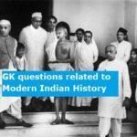 GK questions related to Modern Indian History