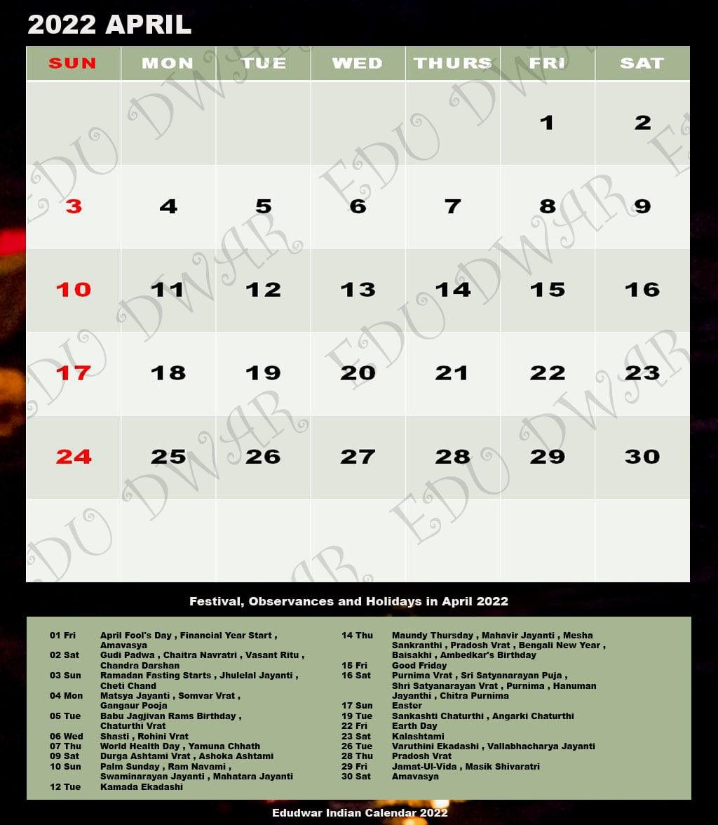 Hcc Calendar 2022.Hindu Calendar 2022 Complete List Of Major Hindu Festivals Holidays Tyohar Edudwar